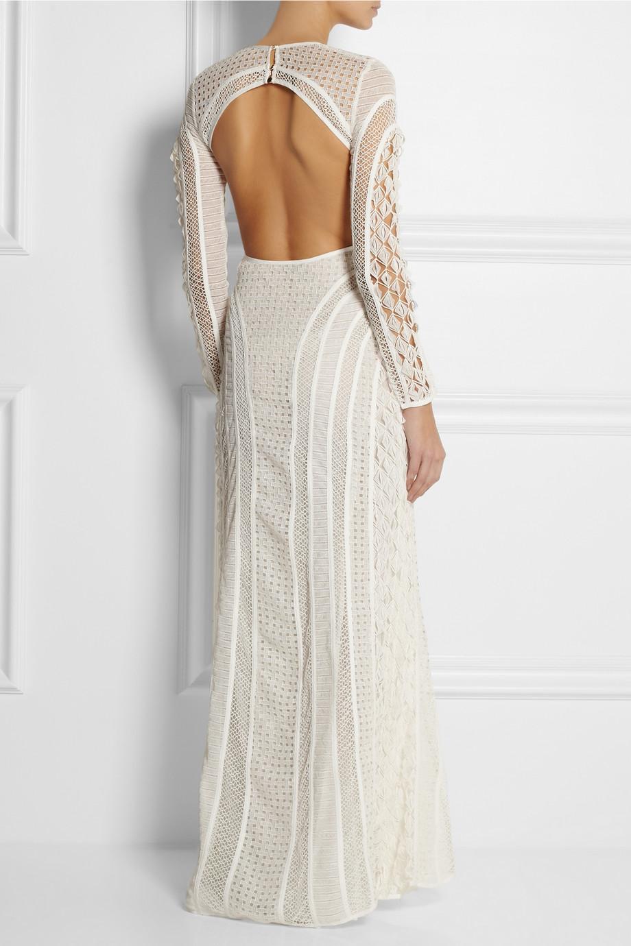 Lyst Zimmermann Good Love Crocheted Lace Maxi Dress In White