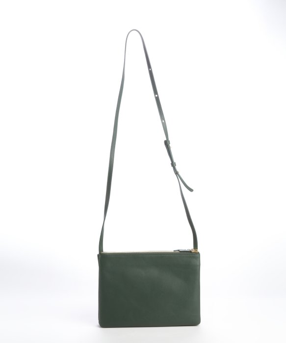 C¨¦line Hunter Green Leather Trio Convertible Pouch Bag in Green | Lyst
