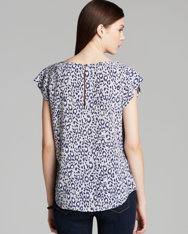 ba264fada5c46 Lyst - Joie Top Rancher Leopard Silk in Gray