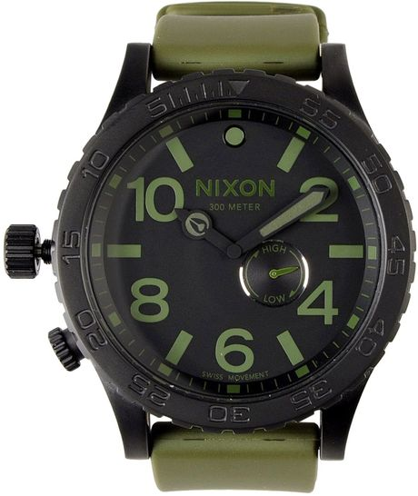 All Mens Sale Guess >> Nixon Wrist Watches in Green for Men (military green) | Lyst