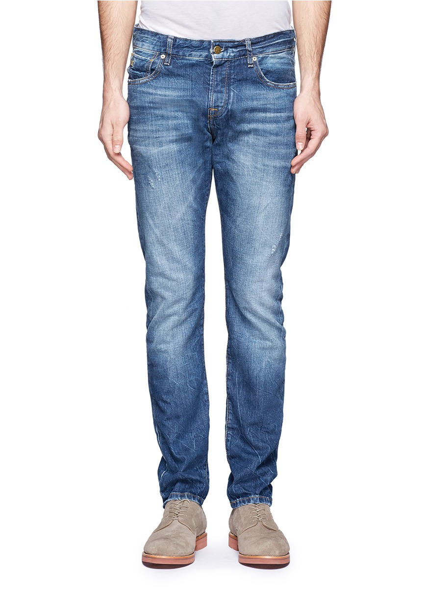 scotch soda ralston cotton jeans in blue for men blue. Black Bedroom Furniture Sets. Home Design Ideas