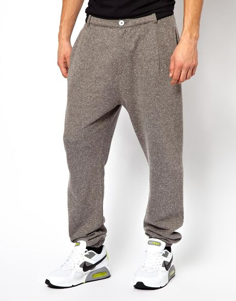 Men S Designer Sweats Designer Menswear: Asos Sweatpant In Neppy Fabric With Contrast Trims By Tim