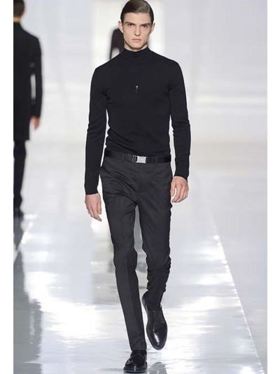 Lyst Dior Homme 185cm Serge Wool Belted Trousers In
