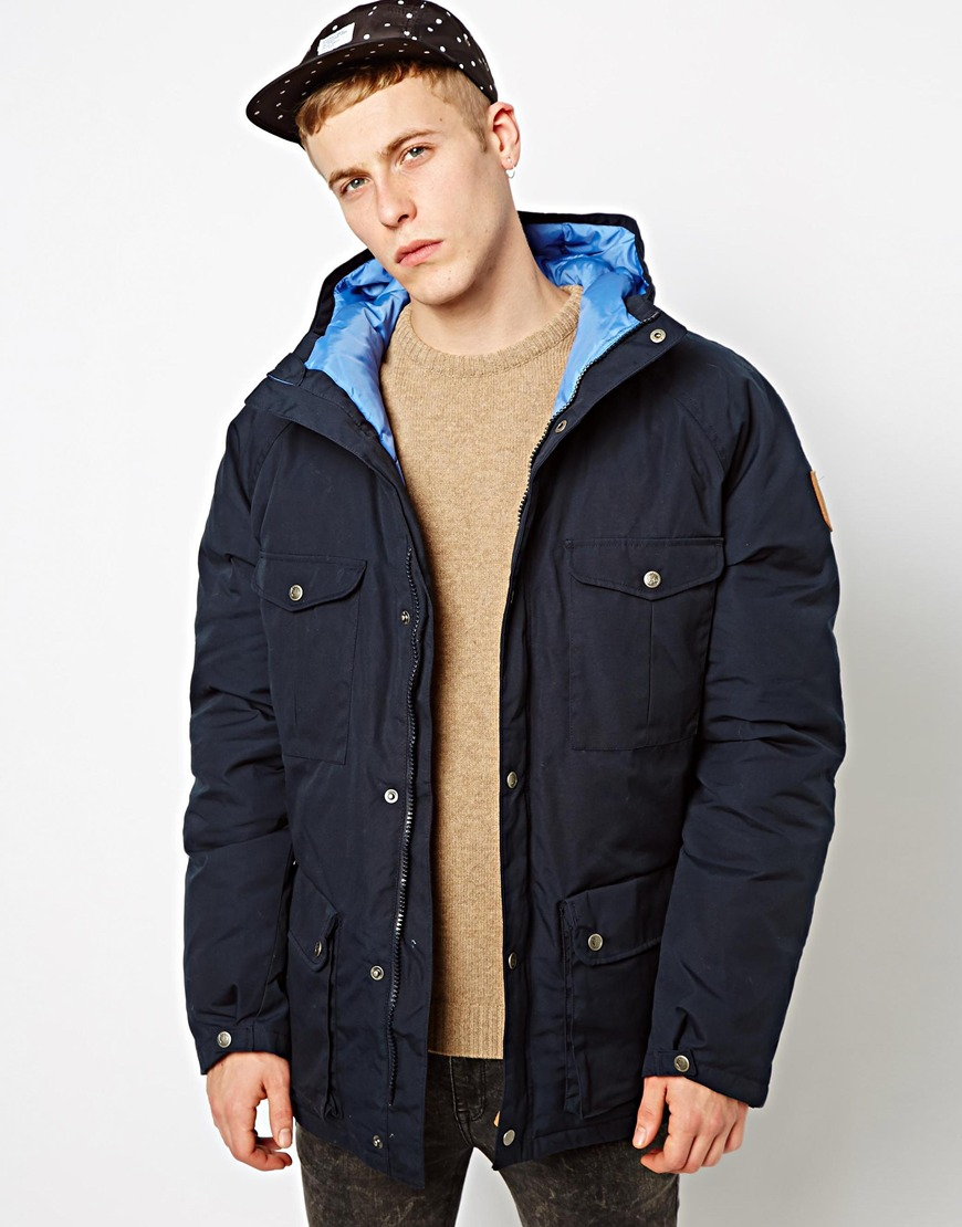 Fjallraven Greenland Down Jacket In Blue For Men Lyst