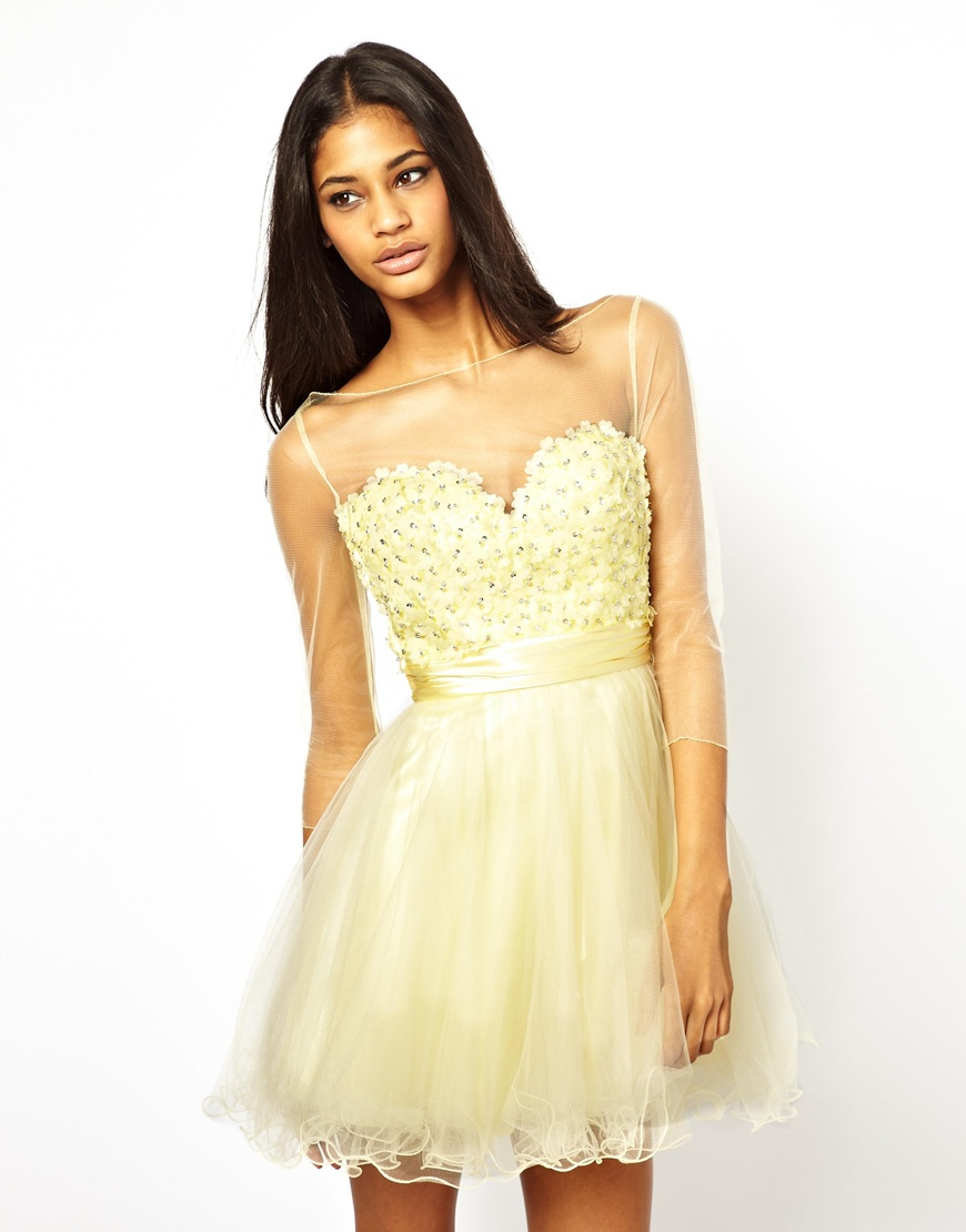 Lyst - Forever Unique Prom Dress in Yellow