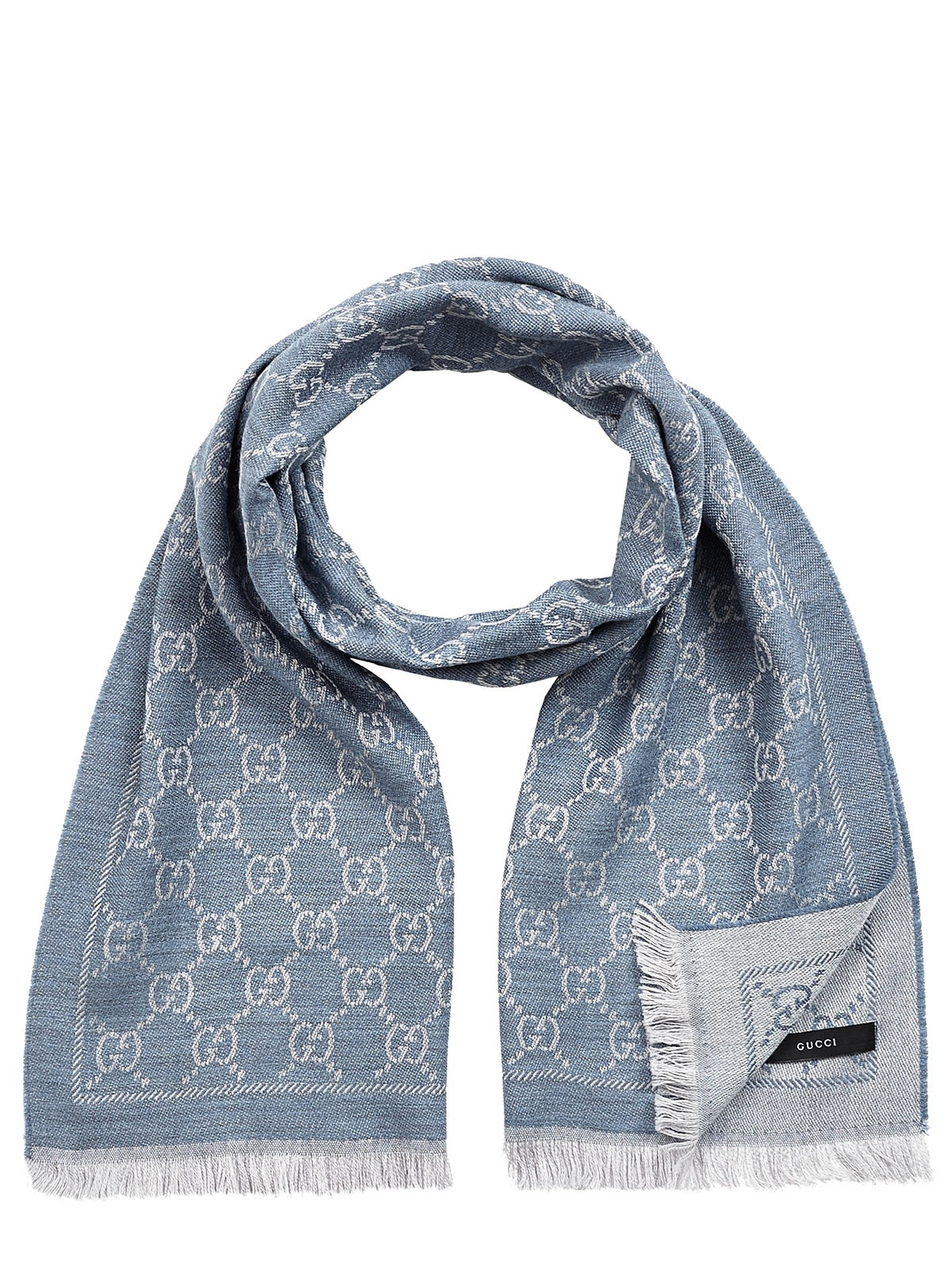 gucci scarf in blue for lyst
