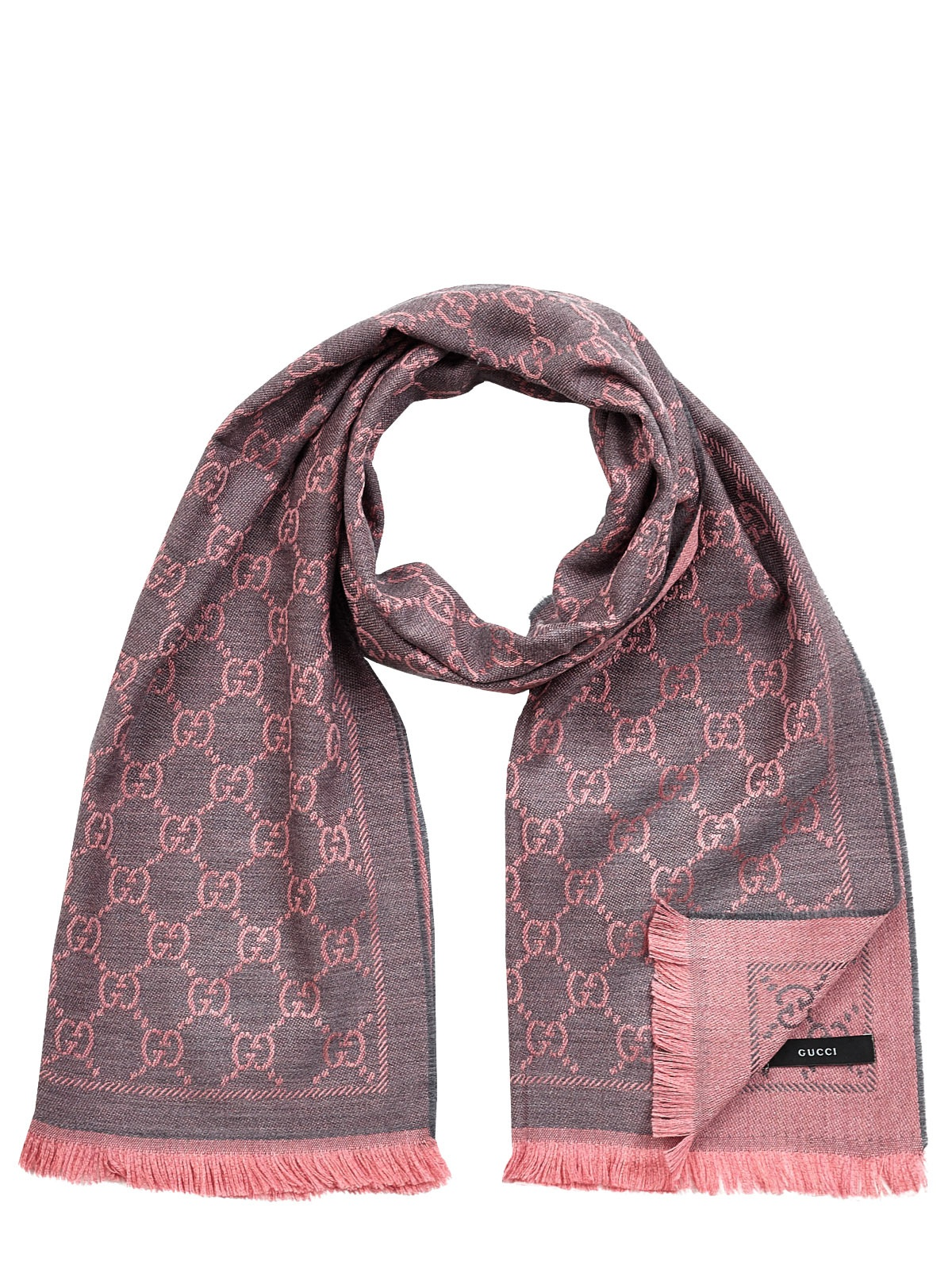 gucci scarf in pink for lyst