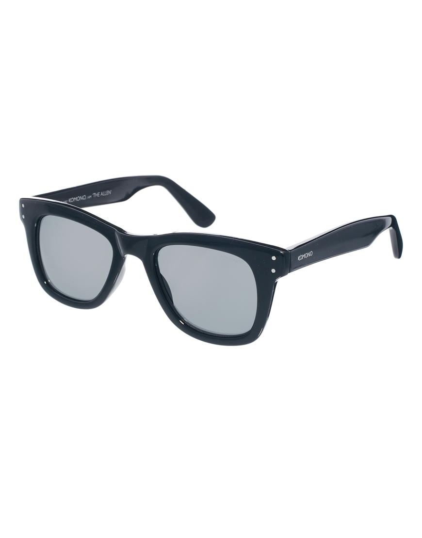 Lyst - Komono Allen Wayfarer Sunglasses in Black for Men 9849604e066
