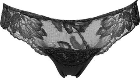 La Perla Lacey Lycra Briefs in Black