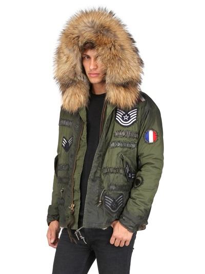Lyst Mr Amp Mrs Italy Rabbit Fur Vintage Canvas Jacket In