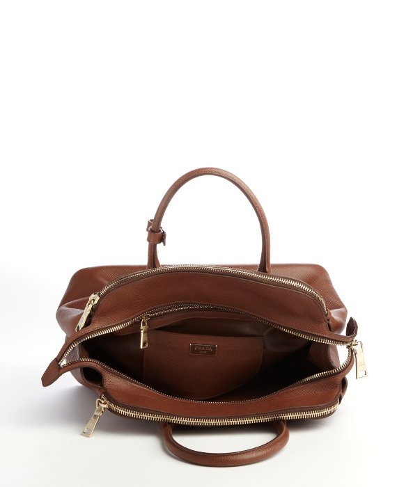 double handbag - prada double bag marble/caramel