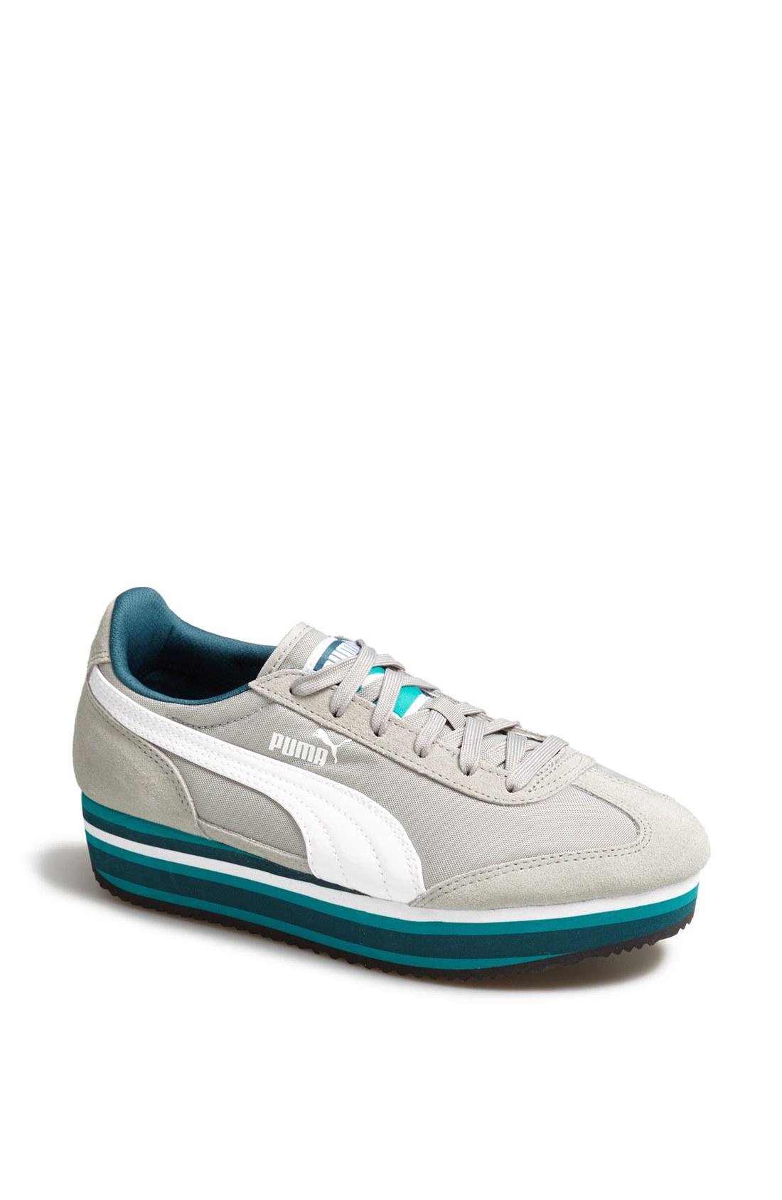 puma sf 77 platform sneaker in blue limestone grey white lyst. Black Bedroom Furniture Sets. Home Design Ideas
