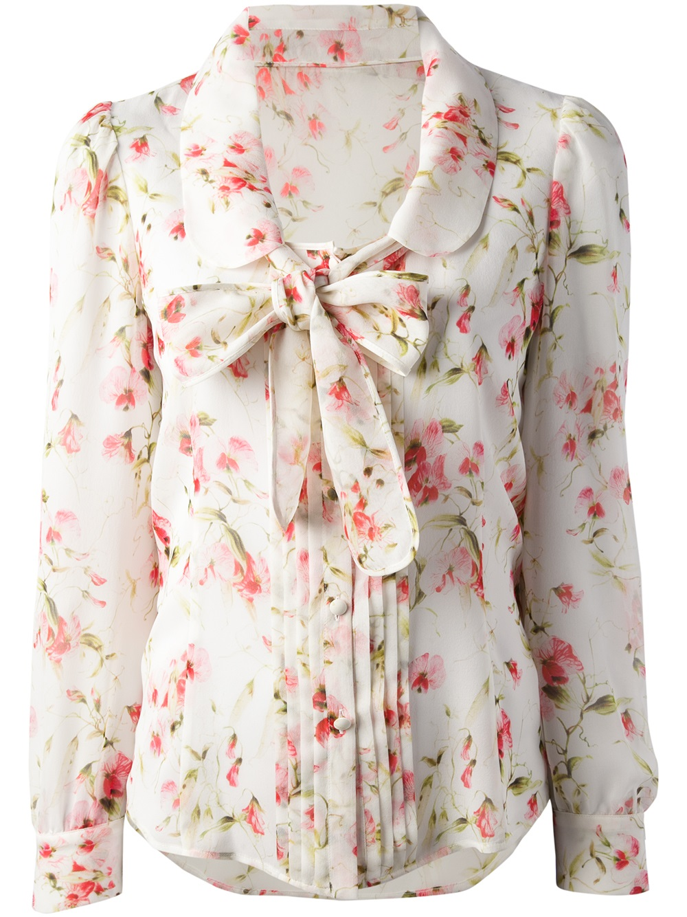 Lyst red valentino floral print blouse gallery mightylinksfo