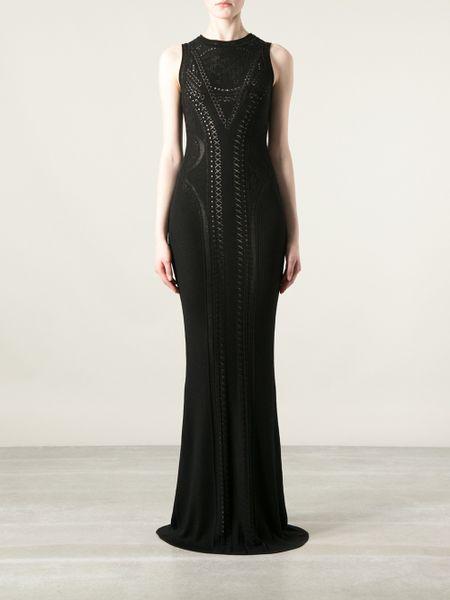 Roberto Cavalli Sleeveless Evening Gown In Black Lyst