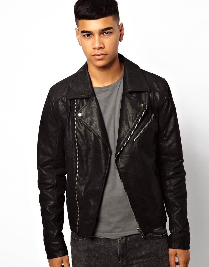 Mens leather jackets asos