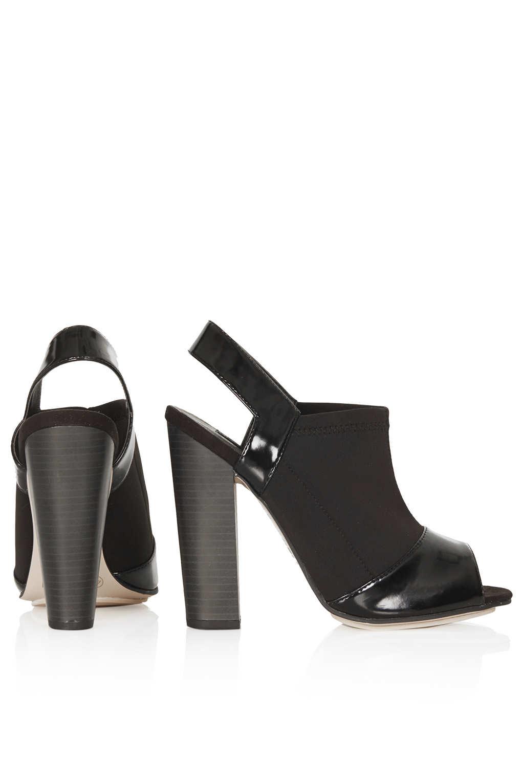 Lyst Topshop Racy Neoprene Heels In Black