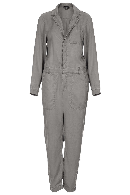 Topshop Casual Boiler Suit In Gray Lyst