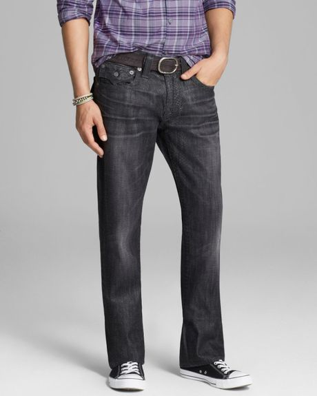 True Religion Jeans Ricky Python Straight Fit in Black ...