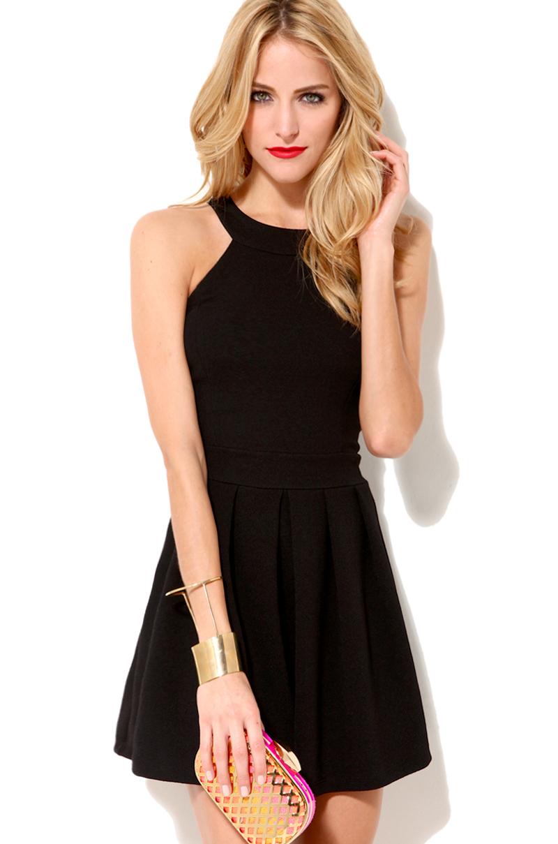 Akira Babydoll Dress W Bow Detail in Black | Lyst
