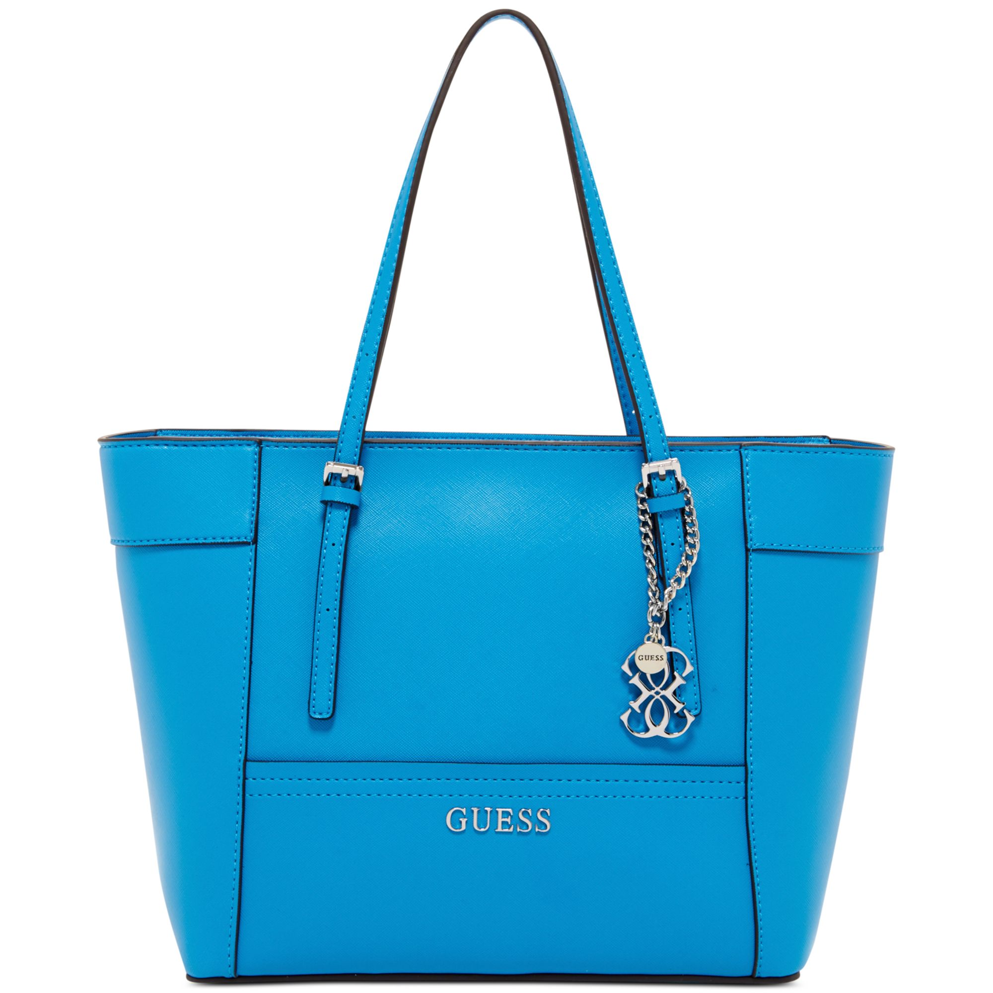 5e0055258a51 Lyst - Guess Delaney Small Classic Tote in Blue