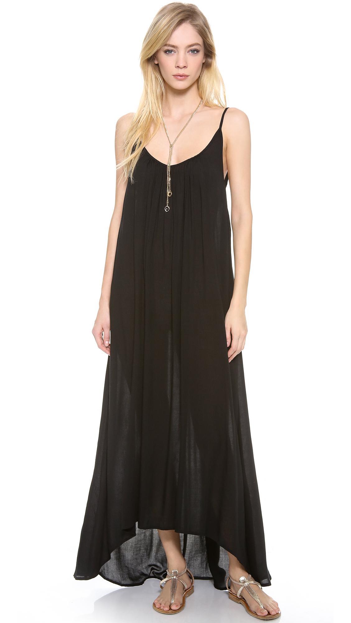 Mikoh swimwear Biarritz Cover Up Dress in Black