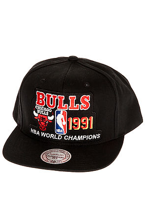 f746be97d01 low price lyst mitchell ness the chicago bulls champions snapback hat in  6e506 31a33