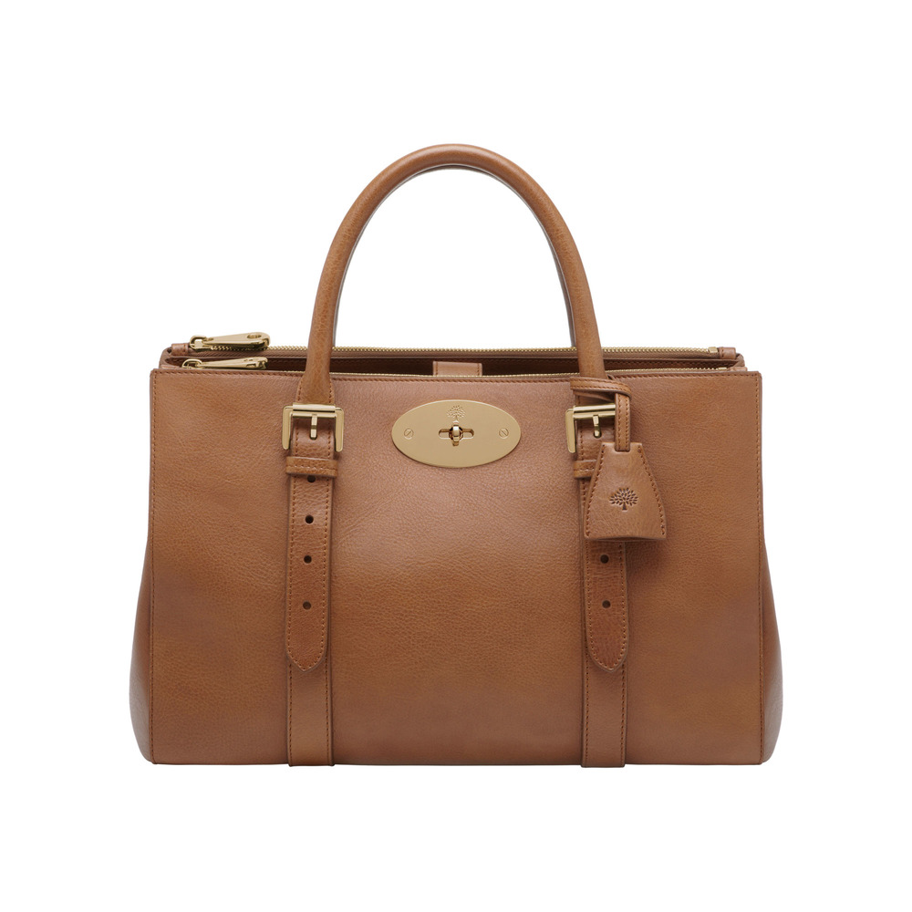 db3ed68510 Mulberry Bayswater Double Zip Tote in Brown (oak)