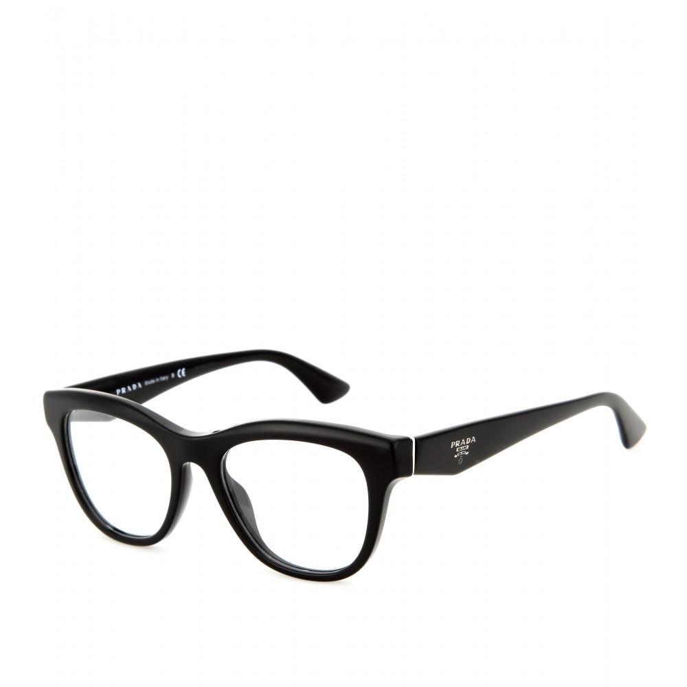 cd582e4cbf2 ... new zealand lyst prada d frame optical glasses in black b1d63 84339