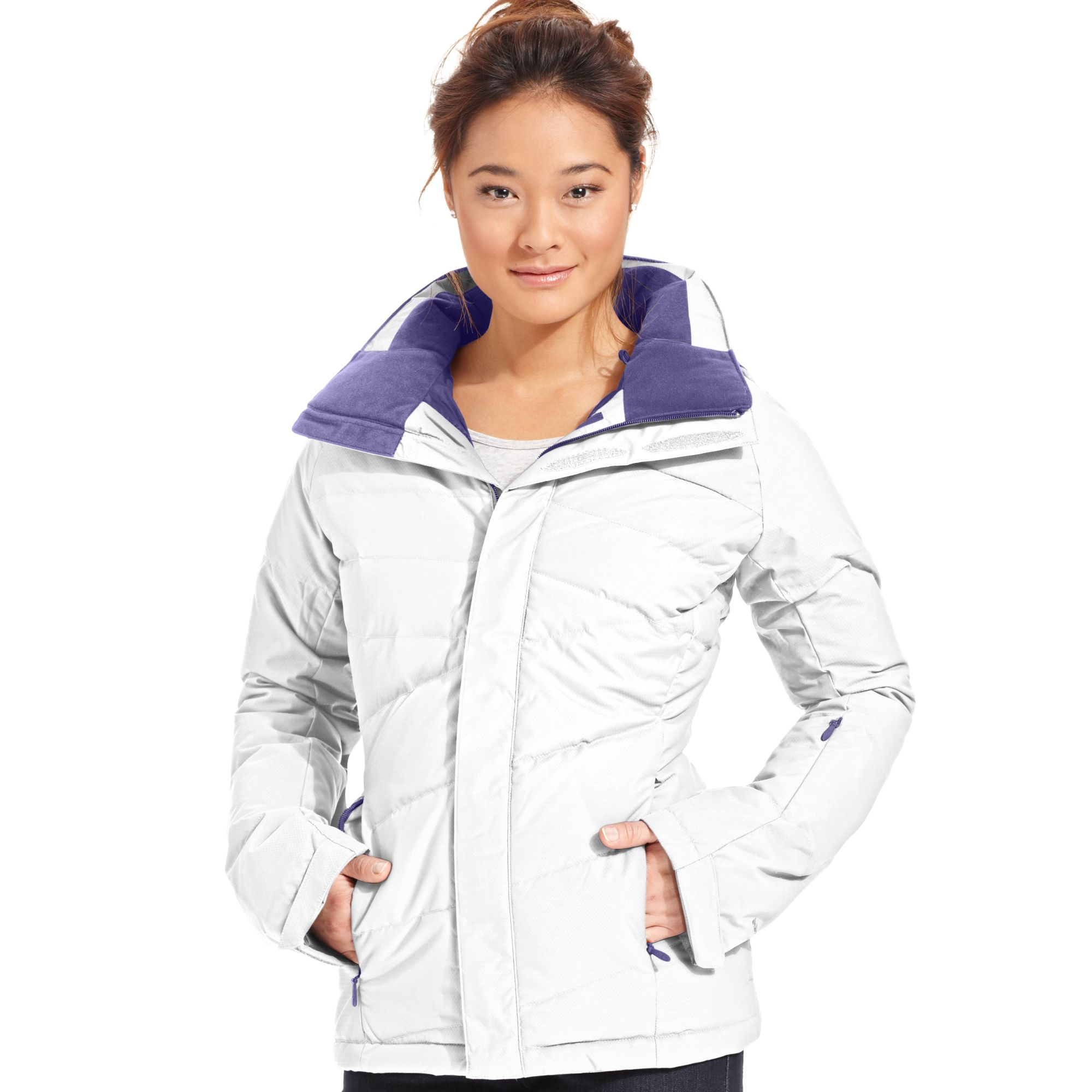 ... official lyst the north face heavenly down quilted puffer ski jacket in  white 5f4cd 3d581 261ec9753