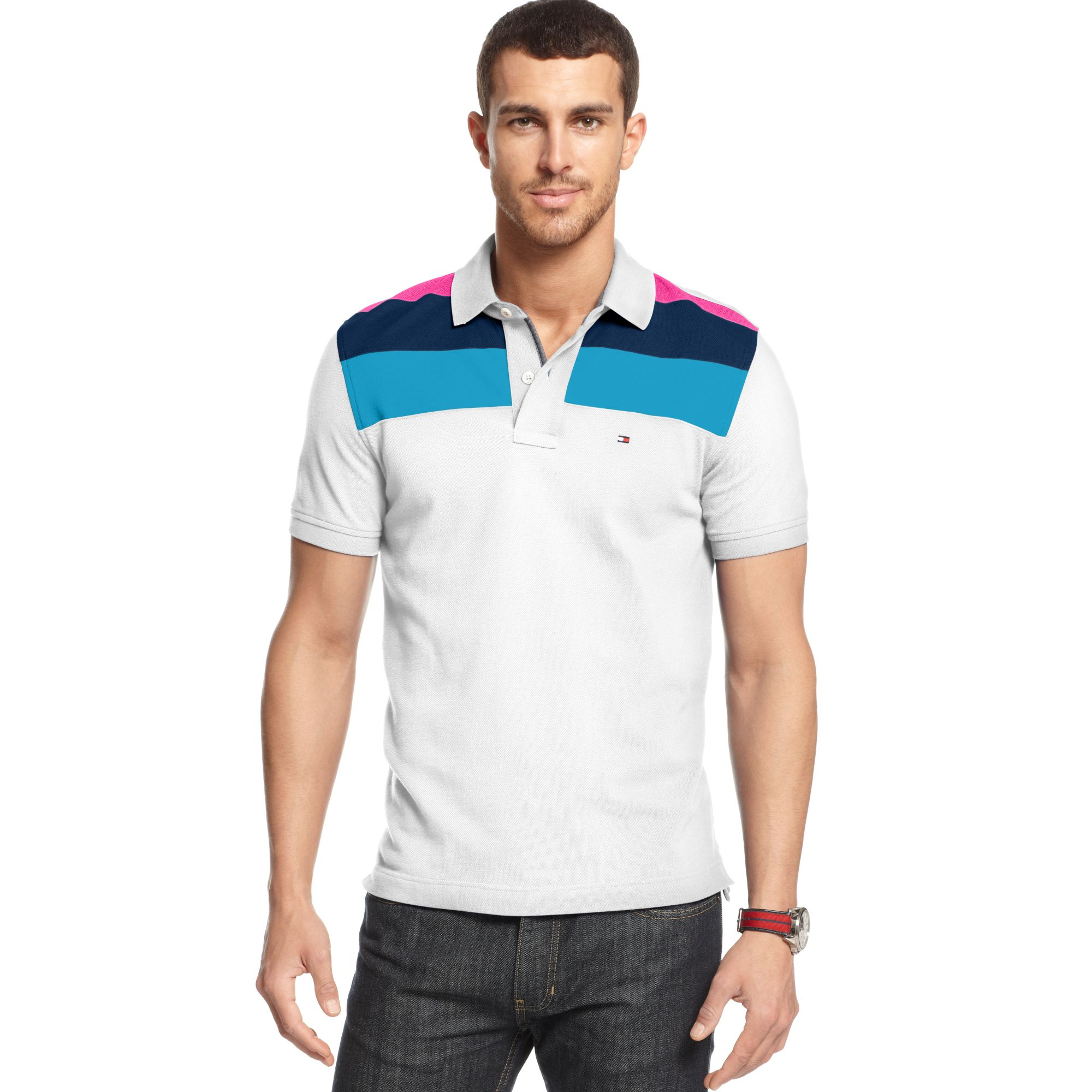 6ffdb69b Tommy Hilfiger Slim Fit Marco Polo Shirt in White for Men - Lyst