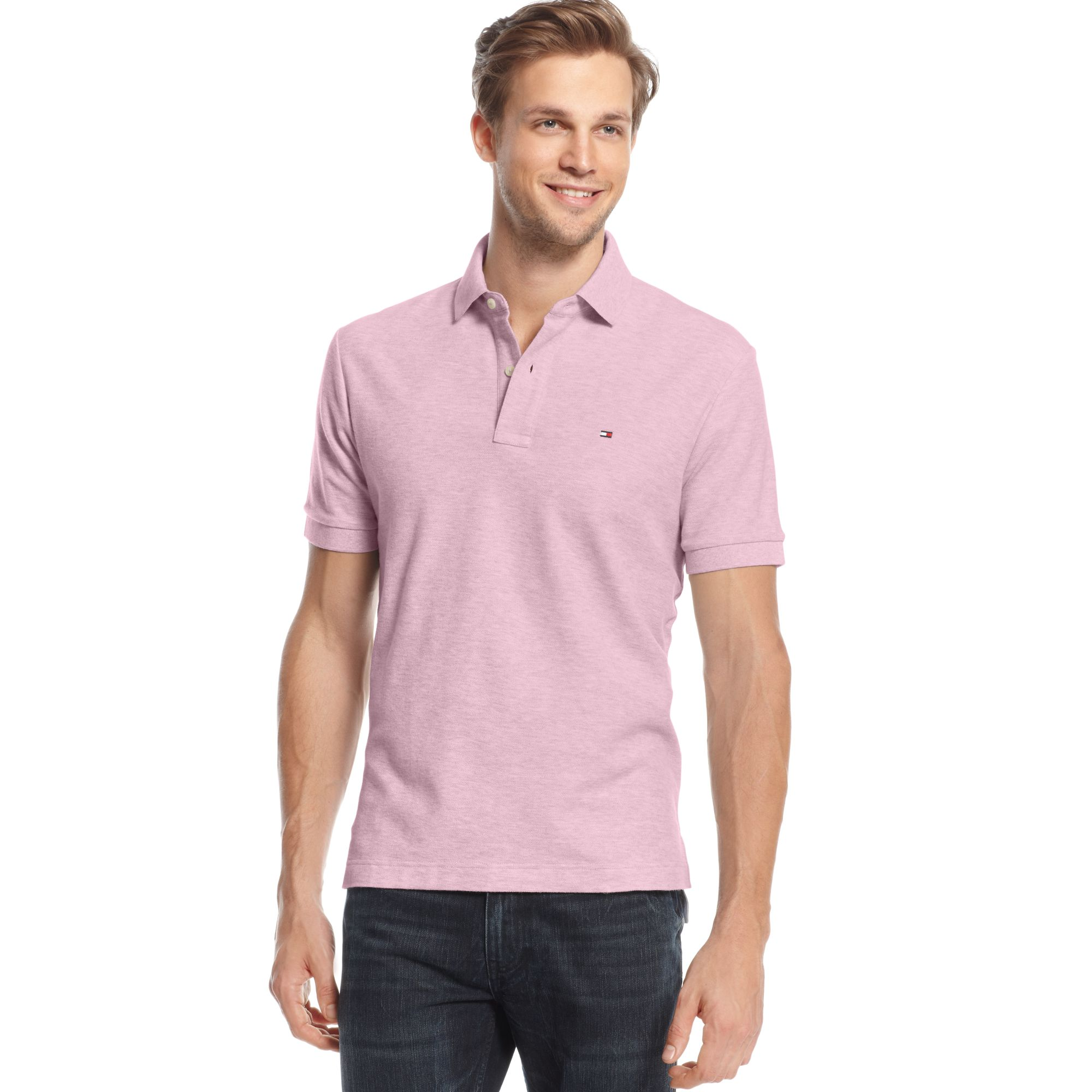 16aa7bf8e2e Lyst - Tommy Hilfiger Ivy Short Sleeve Polo Shirt in Pink for Men