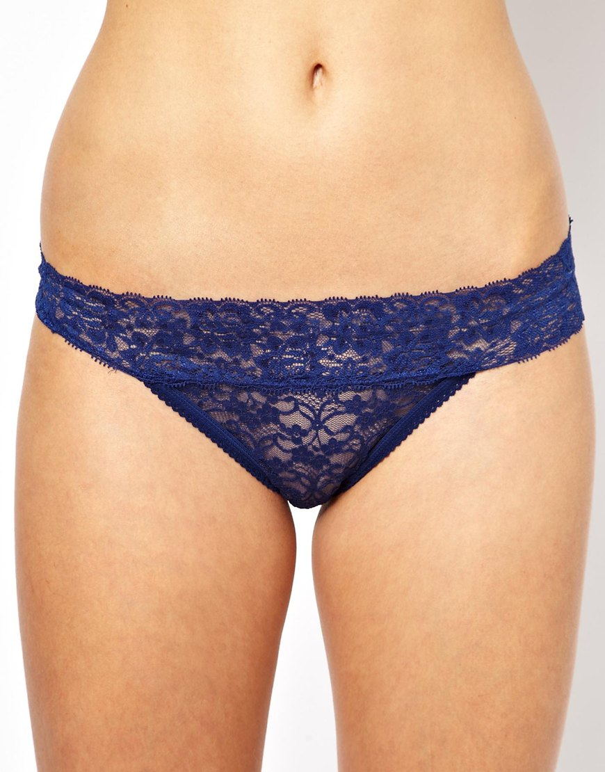 c5c54eb2e7f3 Björn Borg Love All Lace Thong in Blue - Lyst