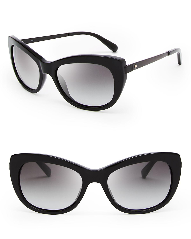 Kate Spade Cat Eye Sunglasses  kate spade new york jayna cat eye sunglasses in black lyst