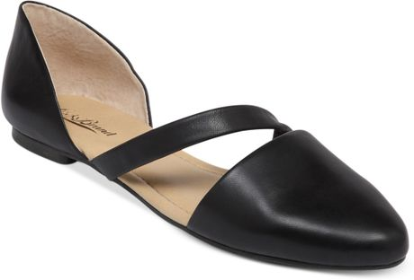 Lucky Brand Womens Allways Two Piece Flats in Black