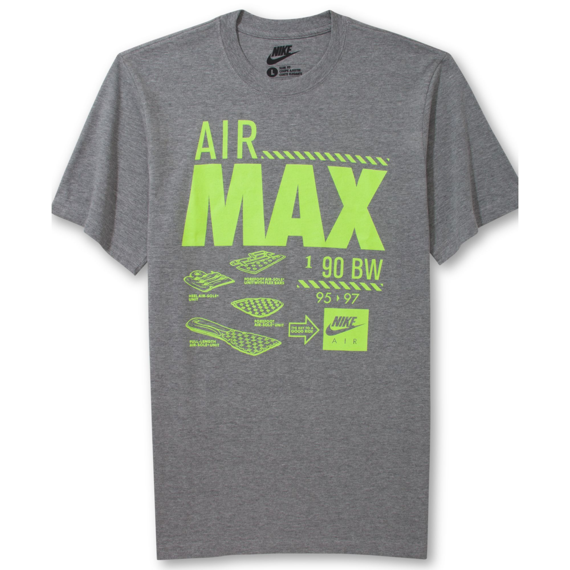 lyst nike air max tshirt in gray for men. Black Bedroom Furniture Sets. Home Design Ideas