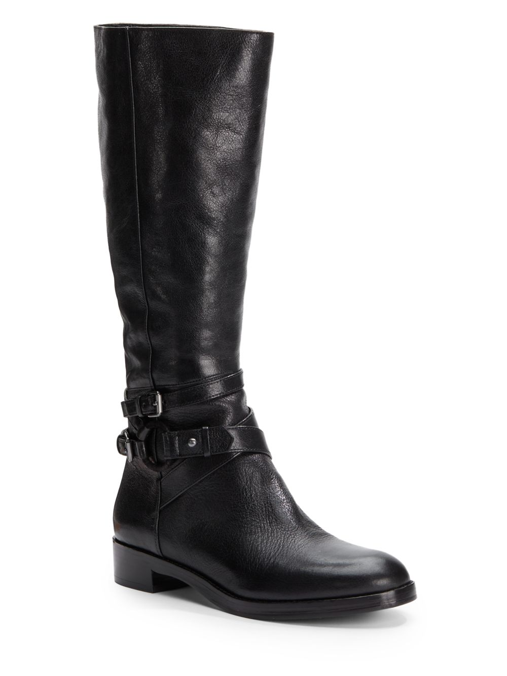 via spiga gabrielle leather boots in black lyst