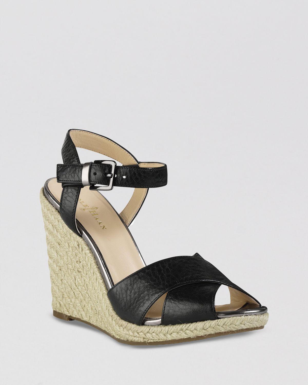 4a674aa4dbf Lyst - Cole Haan Peep Toe Platform Espadrille Wedge Sandals Hart in ...