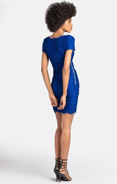 Blue Emilio Pucci V Neck Dress Emilio Pucci V Neck Lace