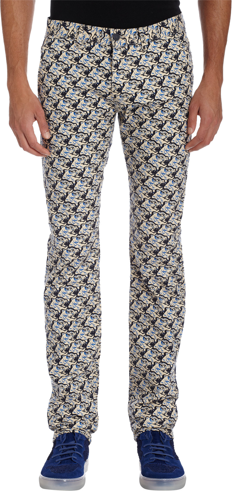 d33805716cf8 Lyst - KENZO All Over Tiger Print Jeans in Blue for Men