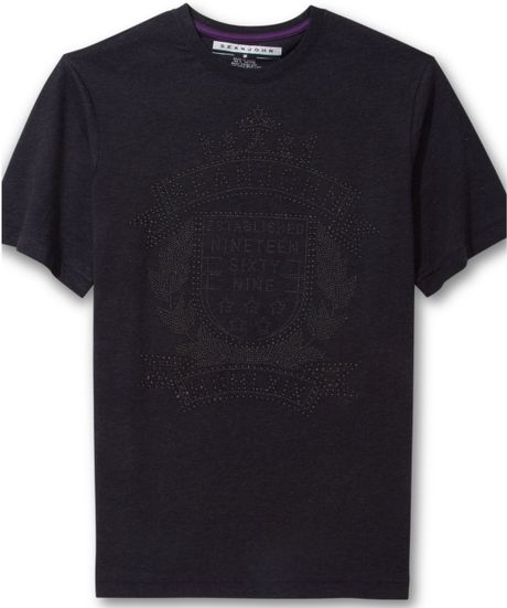 Sean john crown jewels t shirt in black for men pitch for Sean john t shirts for mens