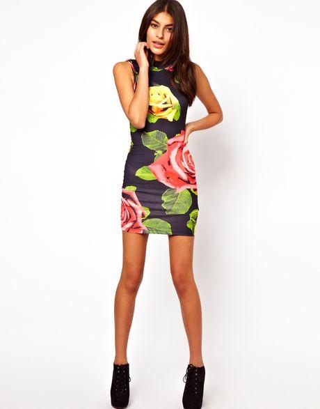 Floral Roses Dress Dress in Floral Rose Print