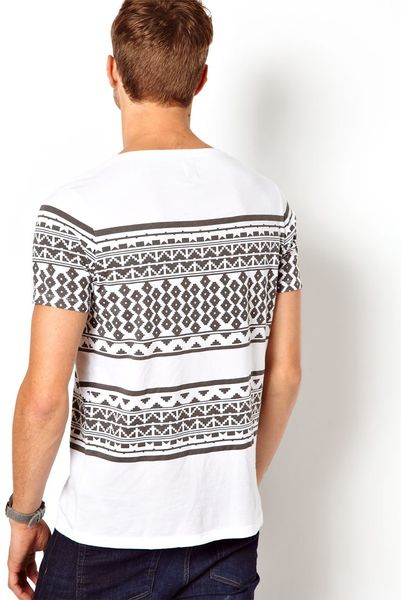 Aztec Printed t Shirts T-shirt With Aztec Print