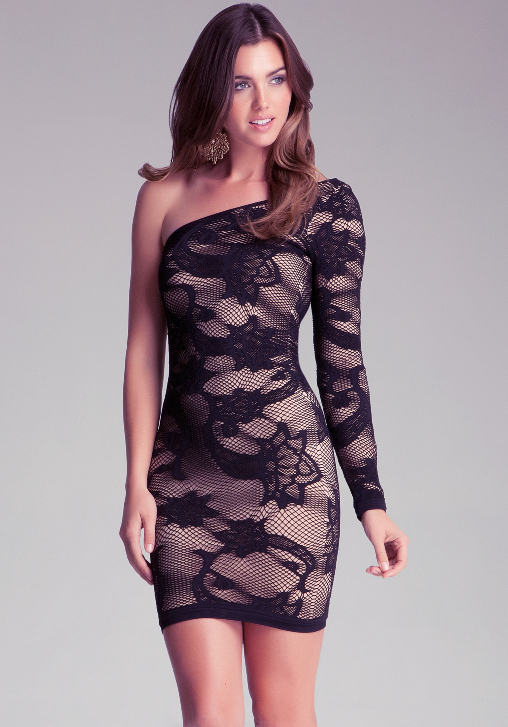 Color: Black % Polyester Imported Pull On closure Dry Clean Only One shoulder Lace dress Customers who viewed this item also bought Calvin Klein Women's One Shoulder Lace Dress. Manufacturer Video. Next page. Customer Questions & Answers See questions and answers. Customer reviews. out of 5 stars. 4. out of 5 stars/5(4).