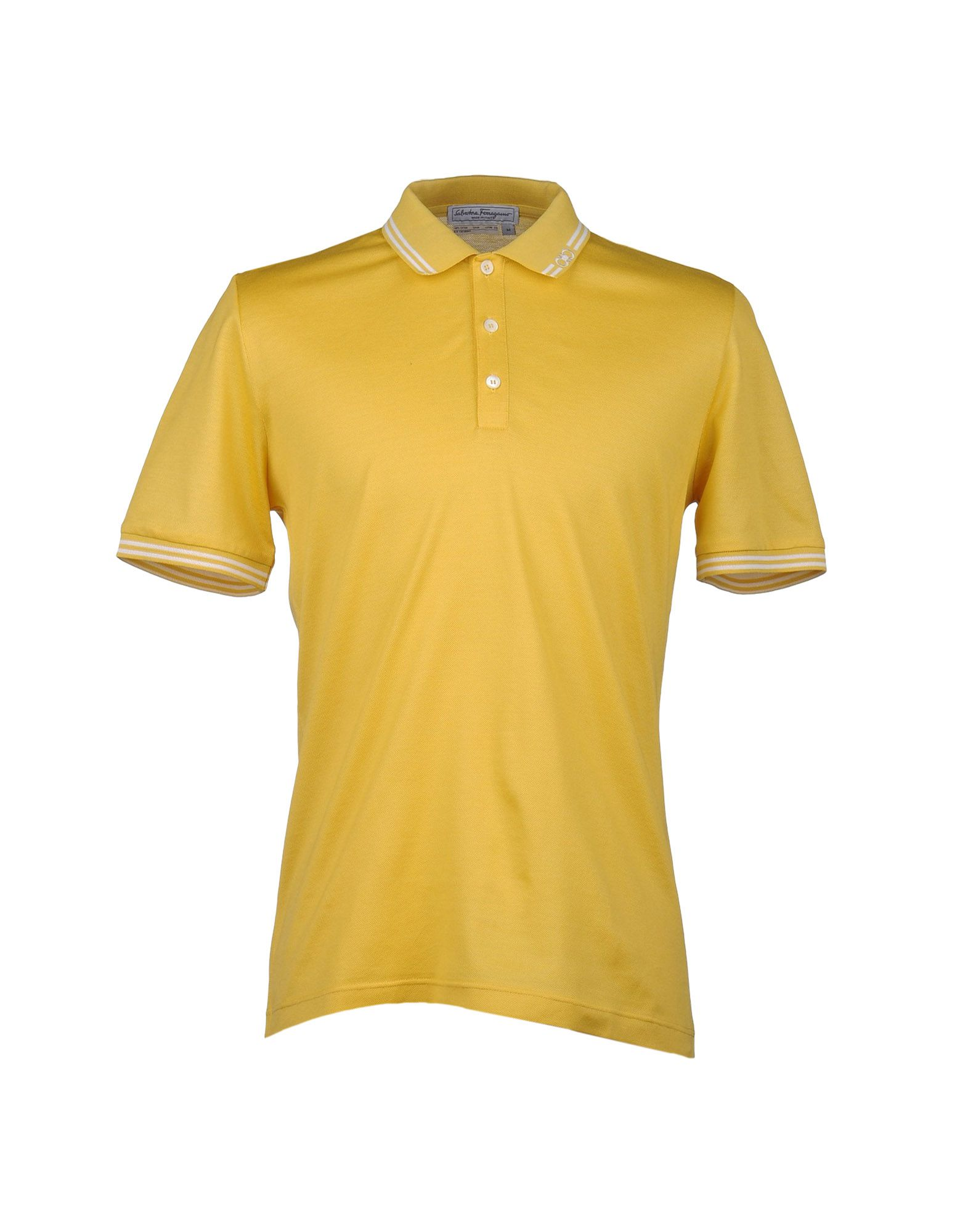 Ferragamo Polo Shirt In Yellow For Men Lyst