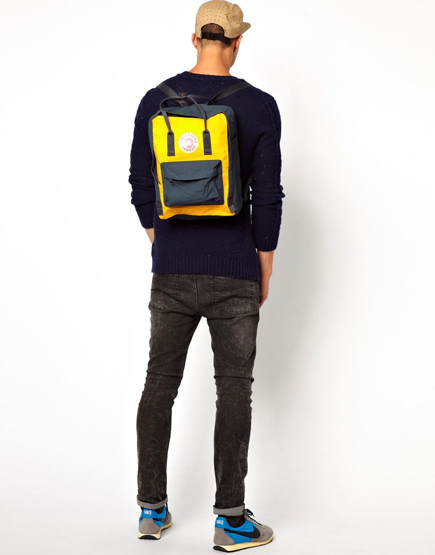 Lyst Fjallraven Kanken Backpack In Yellow For Men