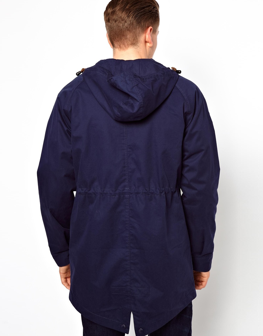 lyst fred perry parka in blue for men. Black Bedroom Furniture Sets. Home Design Ideas