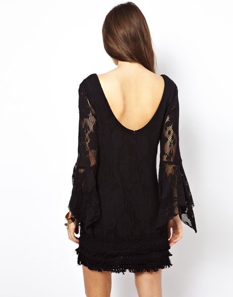 Free People Shell Shift Dress In Lace In Black Lyst