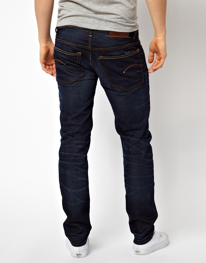 g star raw g star jeans 3301 low tapered fit dark aged in. Black Bedroom Furniture Sets. Home Design Ideas