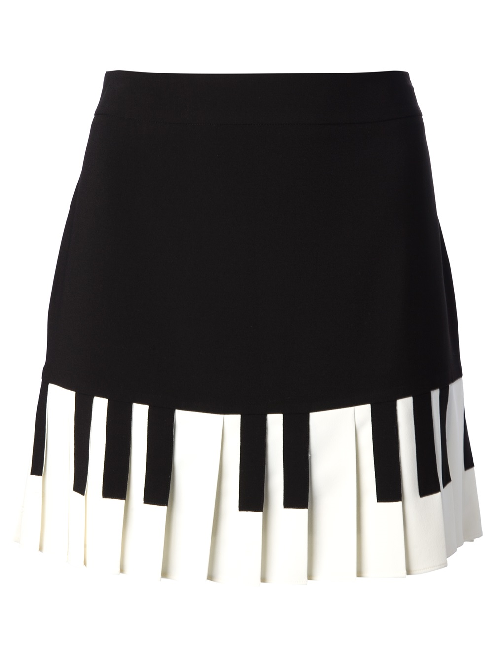 Lyst Boutique Moschino Pleated Piano Key Skirt In Black