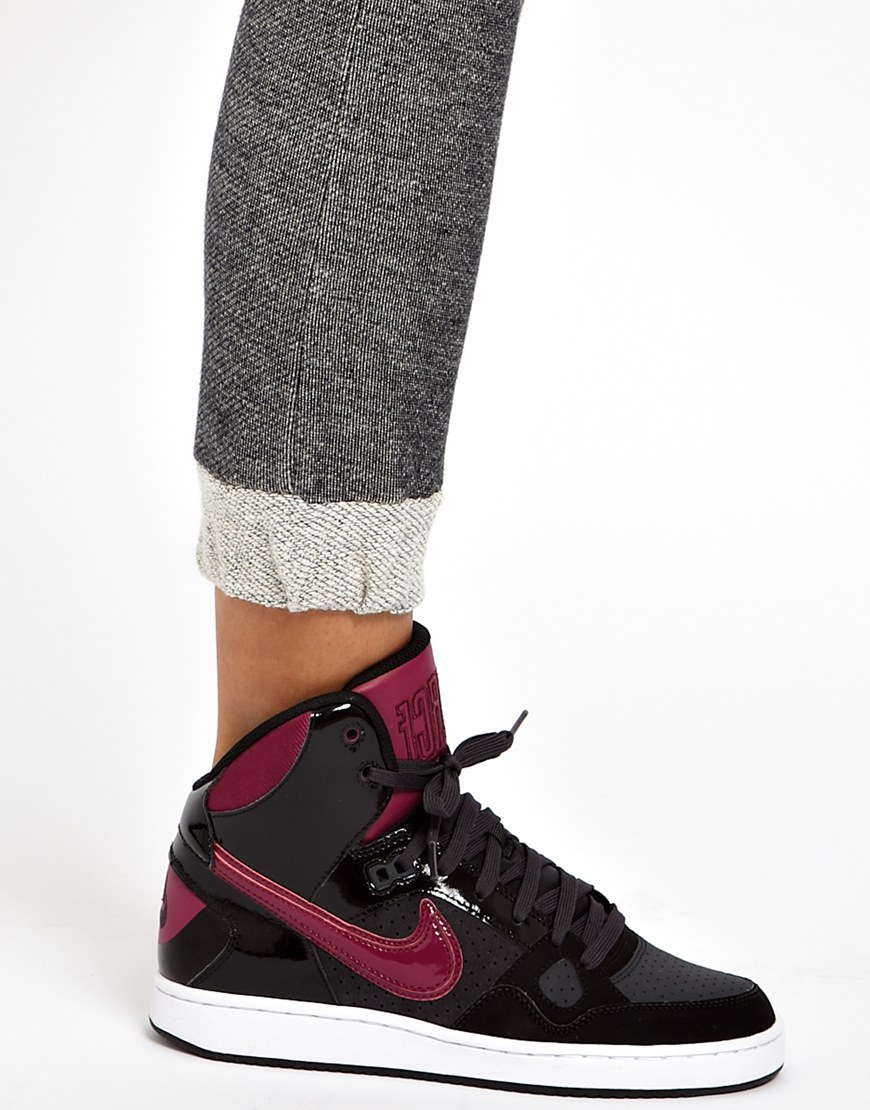 separation shoes 05261 dd835 Lyst - Nike Son Of Force Mid Black Trainers in Black ...